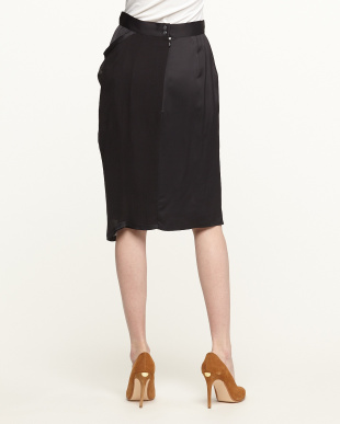 BLACK SKIRT CHIFON CREPECHINE見る