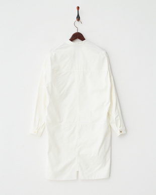 WHITE STAND COL SHIRT DRESS見る