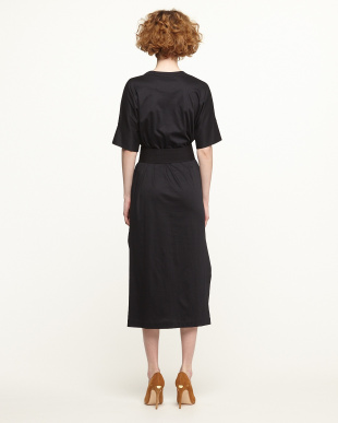 BLACK CTN TUNIC DRESS見る