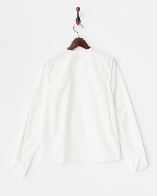 WHITE RUFFLE COLLAR SHIRT見る