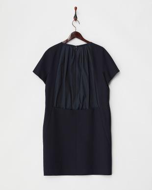 NAVY CO/SL DRESS w/BACK TAFFETA見る