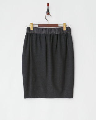 ネイビー ウエストリボンコクーンスカート見る