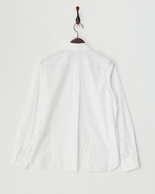 ホワイト コットンレギュラーシャツ見る