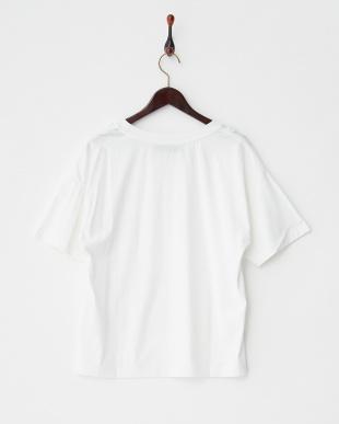 ホワイト  フラワーモチーフ ビッグTシャツ見る