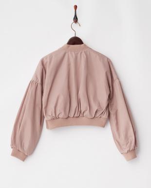 ピンク  ボリューム袖ショート丈MA-1見る
