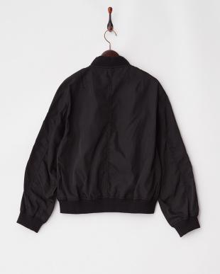 ブラック  袖刺繍MA-1見る