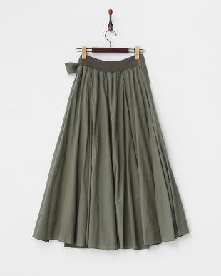 KHAKI  ラップロングスカート見る