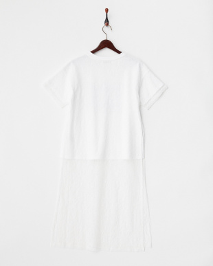 WHITE  レースロングスリットTシャツ見る