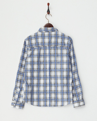 BLUE  シワ加工チェックシャツ A見る