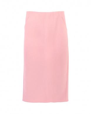 ピンク  ミディアム丈タイトスカート見る