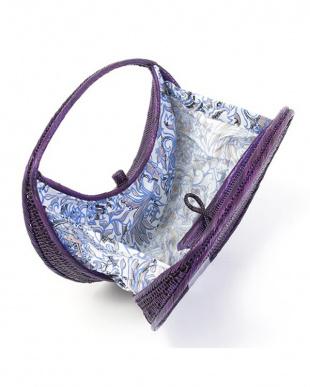 プラム  ラウンド アタ素材かごバッグ|WOMEN見る