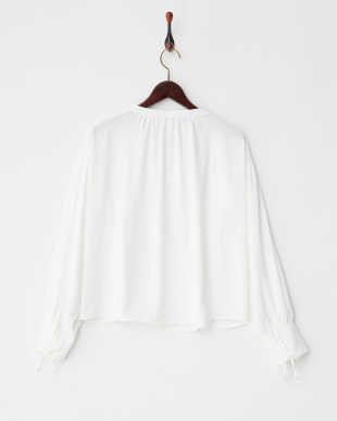 OFF WHITE  袖編み上げ ボリュームブラウス見る
