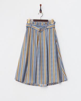 グレー  タックプリーツスカート見る