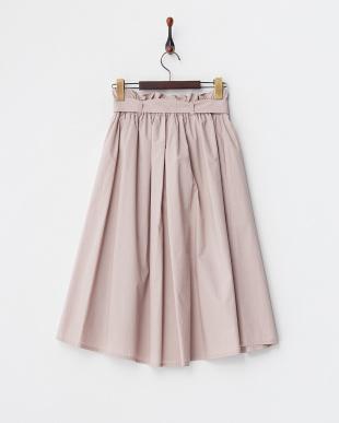 ピンク  ウエストタック スカート見る