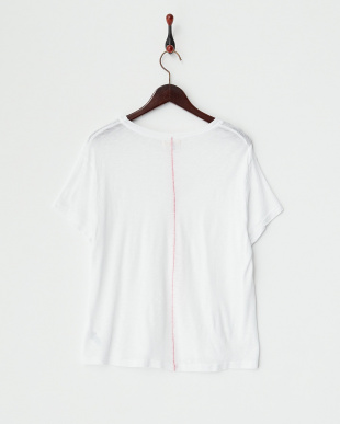 WHITE スーピマスラブクルーネックTシャツ見る