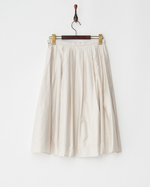ライトグレー  タックフレアスカート見る