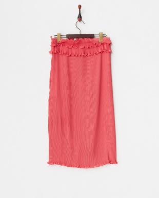 ピンク  プリーツスカート見る
