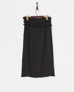 ブラック  プリーツスカート見る