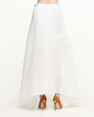 ホワイト イレギュラーヘム プリーツスカート見る