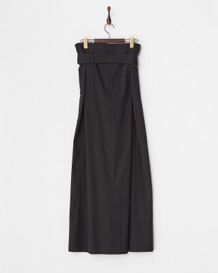 ブラック  ストレッチサテンプリーツスカート見る