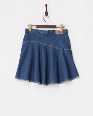ブルー コラボ デニムスカート見る