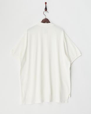 ホワイト  カノコBIGポロシャツ見る