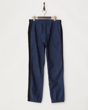 ネイビー  B:防風リネン Easy パンツ見る