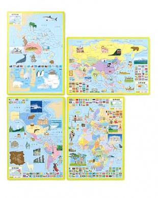 大きな世界地図パズル見る
