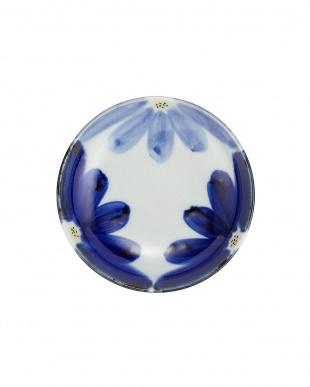 藍花 丸小皿2枚入見る