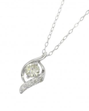 Pt 天然ダイヤモンド 0.2ct デザイン プラチナ ネックレス見る