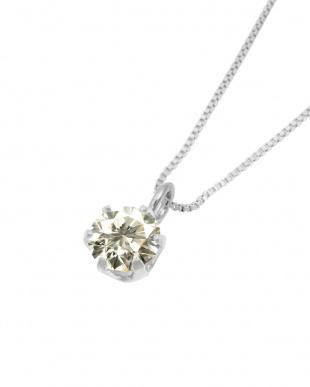 Pt 天然ダイヤモンド 0.2ct SIクラス プラチナ6本爪ネックレス・  ベネチアンチェーン見る