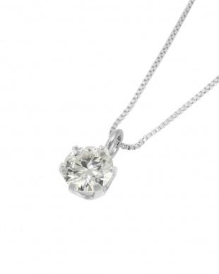 Pt 天然ダイヤモンド 0.2ct VSクラス 6本爪ネックレス・ベネチアンチェーン見る