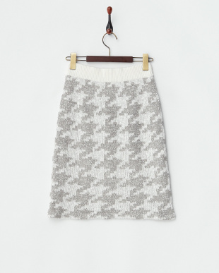 グレー  ニットタイトスカート見る