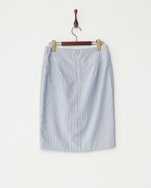 ブルー  サマーストライプスカート見る