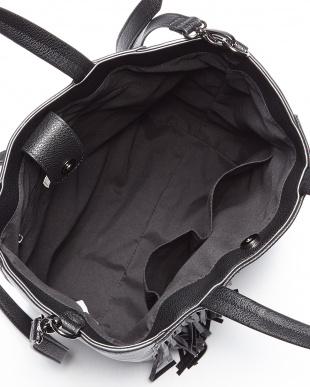 ブラック  フリンジトートバッグ見る
