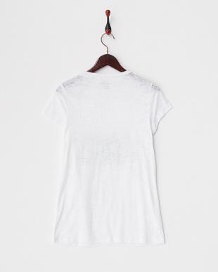ホワイト スパンコール刺繍スラブTシャツ見る