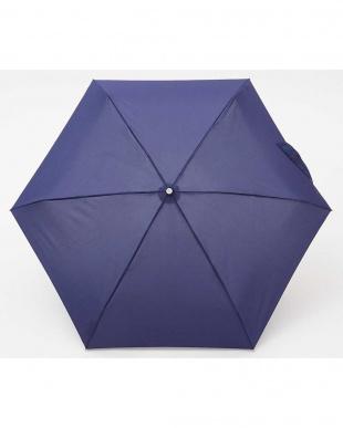 ネイビー  totes line Mini Manual 手動開閉折りたたみ傘見る