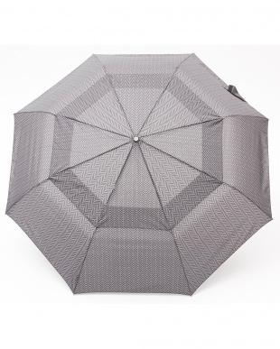 ヘリンボーンB86  Vented Canopy 3 sec AOC 自動開閉折りたたみ傘見る