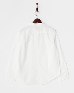 WHITE B:ボーダーメッシュシャツ見る