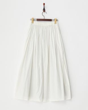 WHITE B:ギャザーマキシスカート見る