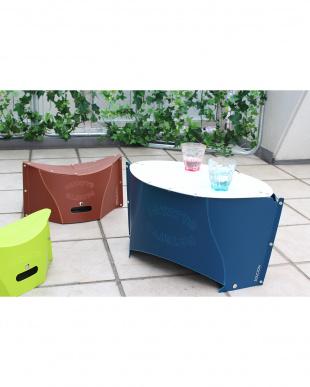 ペールホワイト  PATATTO TABLE mini・専用バッグ付き(折りたたみテーブル)見る