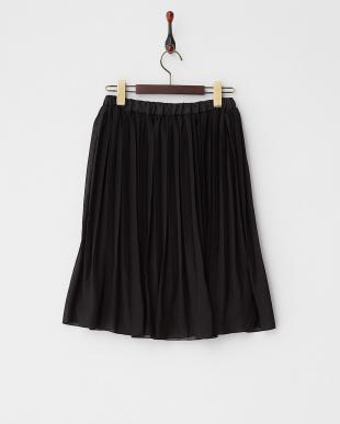 ブラック シフォンプリーツスカート見る