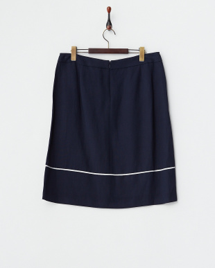 MIDNIGHT NAVY CLARA 配色パイピングスカート見る