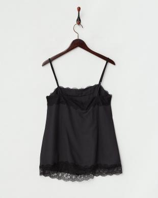 ブラック BALENARE Top-Woven waistcoat・キャミソール見る