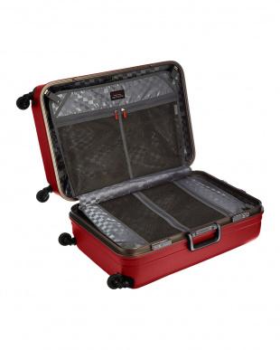 レッド  サイレントキャスターハードスーツケース82L見る