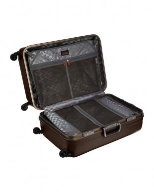 ブラウン  サイレントキャスターハードスーツケース82L見る