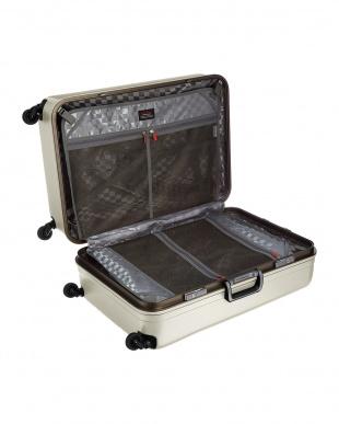 ホワイト  サイレントキャスターハードスーツケース94L見る