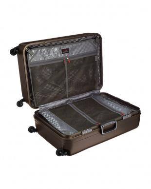 ブラウン  サイレントキャスターハードスーツケース94L見る