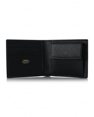 ブラック  2つ折財布(札入)日本製 MAISON de HIROAN見る