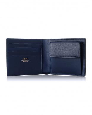 ネイビー  2つ折財布(札入)日本製 MAISON de HIROAN見る